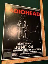 Radiohead Vancouver Canada 2003 Concert Poster Kid A/Amnesiac Tour Thom Yorke
