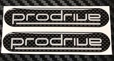 Prodrive Subaru Impreza UK300 -  Rear Wing Carbon Design Domed Gel Badges X 2
