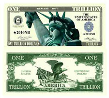 10 Pack of One Trillion Dollar Novelty Currency Bill # 333