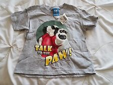 NWT LITTLE BIG DOGS Boy's 2/3 Gray Talk To The Paw Short Sleeve T Tee Shirt