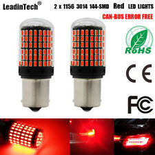1156 LED Bulb Red 144 SMD Canbus Error Free No Hyper Flash for Turn Signal Light
