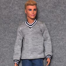 "Handmade ken doll grey Sweater clothes for 1/6 ken dolls 12"" dolls"