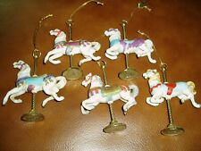 Porcelain Carousel Horse Ornament by Willitts Designs, Set of 5 Horses