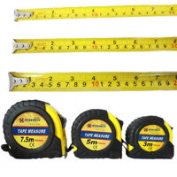 Pocket Measuring Tape 3M 5M 7.5M Strong Rubber Lock Casing DIY Builders Office