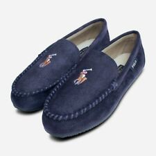 Ralph Lauren Navy Blue Slippers with Multi Colour Polo Logo