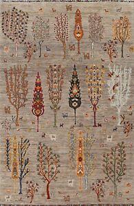 Vegetable Dye Geometric Tribal Ziegler Oriental Area Rug Hand-knotted 6x8 Carpet