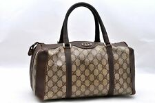 Authentic GUCCI Hand Bag GG PVC Leather Brown A1702