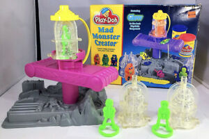 Vintage 1994 Play-Doh Mad Monster Creator Set 22110 W/3 Monsters W/Box