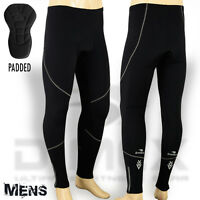 Mens Cycling Tights Winter Thermel Fleece Padded Pant Cycle Legging Long Trouser