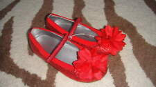 STRIDE RITE 8.5 RED SPARKLE SEQUEN FLOWER SHOES