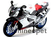 MAISTO 31036 APRILIA RSV R1000 SPORT BIKE 1/12 GREY / WHITE