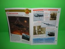 AVRO LANCASTER AIRCRAFT FACTS CARD AIRPLANE BOOK 198