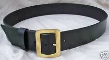 "2.5"" Wide Premium Leather Santa Claus Belt w Solid Brass Buckle + PIRATE"