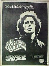1973 Gilbert O'Sullivan Rock & Roll Music Record/Album Ad