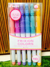 Pilot Frixion Colors Erasable Marker Pens - 6 Pastel Colors