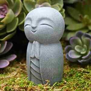 Statue Decorative Resin Little Jizo Buddha Sculpture Decor DIY Garden W3V3