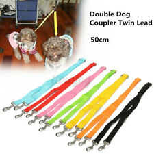 "20"" Double Dog Lead Leash Rope Coupler Dual Large Small Dogs Walking Splitter ~"