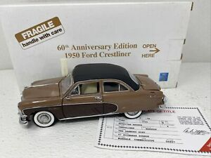 1/24 Danbury Mint 1950 Ford Crestliner 60th Anny Edition Hawaiian Bronze