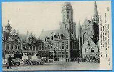 CPA: En Belgique - Auto mitailleuse sur la place de Furnes / Guerre 14-18