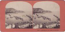 Nice Le Port Stéréo Vintage albumine vers 1875