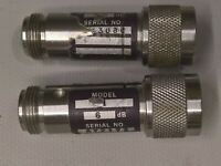 Lot (2)  Weinschel REFERENCE ATTENUATOR 50MHz -6db TYPE N HP