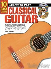 10 Easy Lessons Lean To Play Classical Guitar (CD & DVD) - Same Day P+P