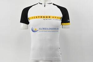 Verge VGear Men's XS Livestrong Army Short Sleeve Cycling Jersey 3 Rear Pockets