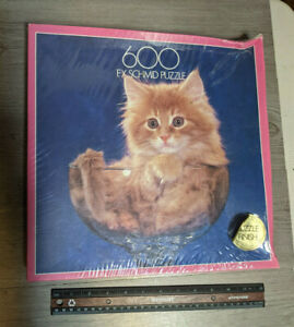 Sealed FX Schmid Kitten In A Glass Bowl/Cup Puzzle 600 Pieces Cute Kitty Cat