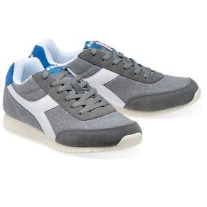 Zapatos Hombre Diadora Jogh Luz C Suela Grises Deportivos Casual Ante Cordones