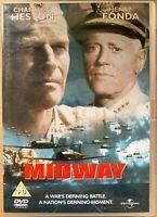 Midway DVD 1976 World War II 2 Film Movie Classic with Charlton Heston Battle of