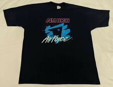 Vintage Mens Airforce Aim High T-Shirt Sz XL Single Stitch
