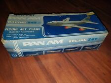 Large Pan Am Battery Operated Toy Model Jet Air Plane Boeing 747SP  with box