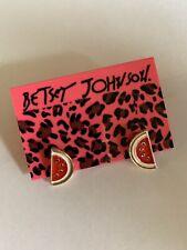 Betsey Johnson Fashion Red Enamel Summer Fruit Watermelon Earrings-BJ66408