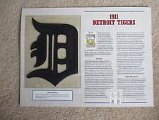 1911 Detroit Tigers ~ Cooperstown Collection Baseball Team Patch Willabee & Ward
