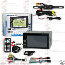 "SOUNDSTREAM VRN-64HB 6.2"" LCD DVD GPS BLUETOOTH STEREO FREE LICENSEPLATE CAMERA"