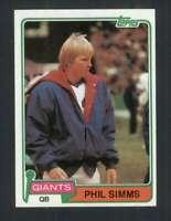 1981 Topps #55 Phil Simms NM/NM+ NY Giants 118181