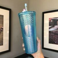 Starbucks Tumbler China Autumn Bling Blue studded Rabbit Topper 24oz Cold cup