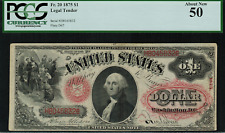 1875 $1 Legal Tender FR-20 - PCGS 50 - About New