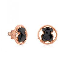 Women Lady Multi-color Stainless  Steel Bear Pierced Earrings Jewelry