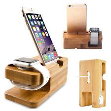 Madera bambú Soporte para iPhone Accesorios de Apple Base Docking
