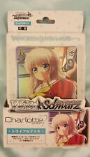 WeiB (Weiss) Schwarz Charlotte Trial Deck *New/Sealed*