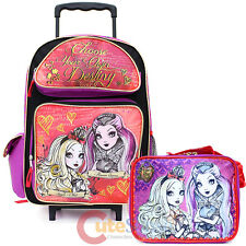 Ever After High Large School Roller Backpack with Lunch Bag Set -Foever High