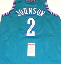 e17db8d828bb Larry Johnson Signed Charlotte Hornets Jersey (JSA)  1 Overall Pick 1991  Draft
