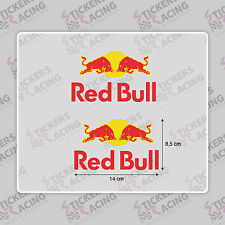 X2 PEGATINA ADHES  STICKER VINILO Bull Red  energy casco moto bebida enertica GP