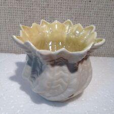 Beautiful Belleek Yellow and White Vase from Ireland