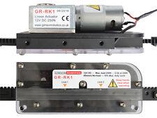 CORSA regolabile 12v DC Rack & PIGNONE ATTUATORE lineare, CANCELLO, PORTA, carrello a motore