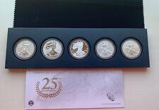 2011 Anniversary American Silver Eagle Set. 5 COIN SET W/ORIGINAL GOV PACKAGING
