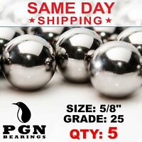 """5 QTY 5/8"""" Inch Tactical Cores Monkey Fist Paracord Chrome Steel Bearing Balls"""