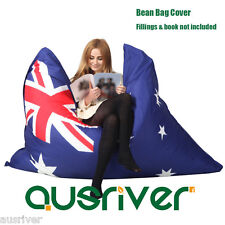 Large Bean Bag Cover Living Room Furniture Reading Relaxing Chair Australia Flag
