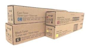 4 Original Toner XEROX WorkCentre 7830i 7835i 7845i 7855i / 006R01513 -006R01516